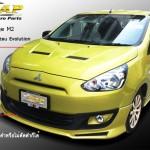 ฝากระโปรง Mitsubishi Mirage ทรง Evolution