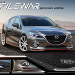 ชุดแต่งรอบคัน Mazda 3 4D 2014 ทรง Filewar