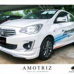 ชุดแต่งรอบคัน Mitsubishi Attrage 2017 ทรง Amotriz