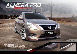 ชุดแต่งรอบคัน Nissan Almera 2014 ทรง Pro