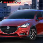 ชุดแต่งรอบคัน Mazda2 2015 Skyactiv 4D-5D ทรง Matrix V.2