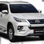 ชุดแต่งรอบคัน Toyota Fortuner 2015 ทรง ZK
