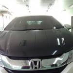 ฝากระโปรงคาร์บอนเคฟลาร์ Honda City 2014 ทรง V.1