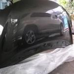 ฝากระโปรงคาร์บอนไฟเบอร์ Honda Jazz GK ทรง V.1