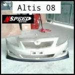 ลิ้นหน้าซิ่ง Toyota New Altis 08 ทรง N Speed