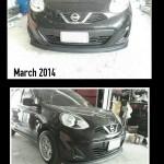 ลิ้นหน้าซิ่ง Nissan March 2013 ทรง N Speed
