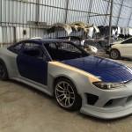 ชุดแต่งรอบคัน Nissan Silvia S15 ทรง Vertex Widebody