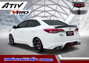 ชุดแต่งรอบคัน Toyota Yaris Ativ ทรง Vitto