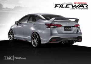 ชุดแต่งรอบคัน Nissan Almera 2020 Sportech ทรง Filewar